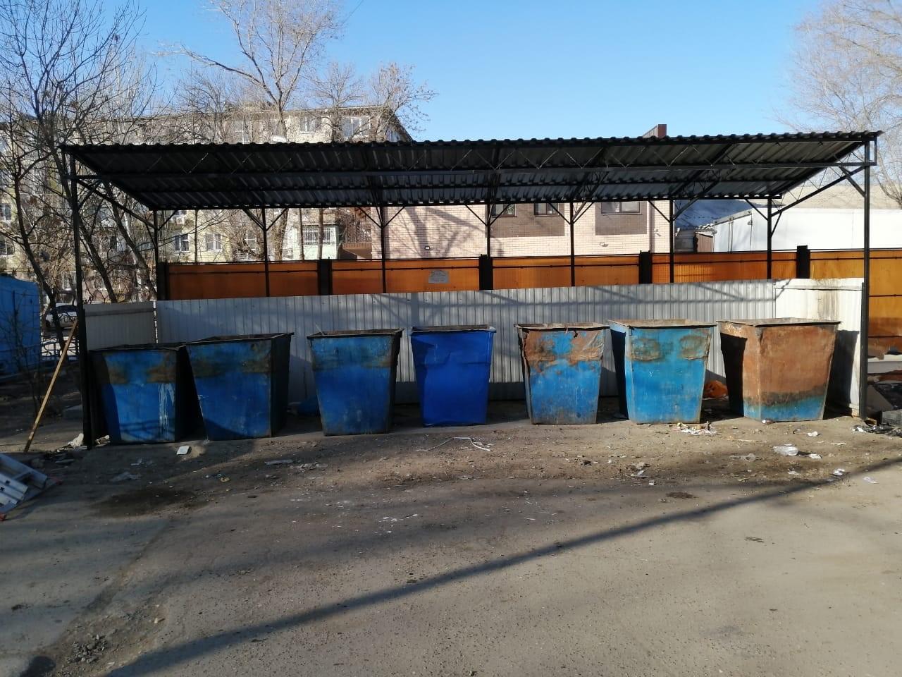 Модернизированна мусорная площадка на ул. Ботвина