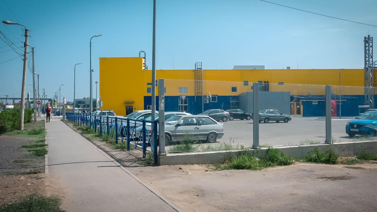 Проложен новый тротуар до ТЦ «Лента» по ул. Авиационной